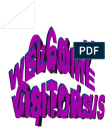 Welcome Visitors Grade V