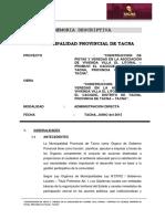 Memoria Descriptiva - Asociacion Villa El Litoral Cacique