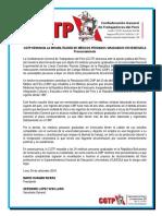 CGTP Denuncia La Inhabilitación de Médicos Peruanos Graduados en Venezuela