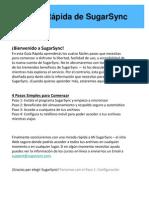 Guía Rápida de Partida - SugarSync Quick Start Guide