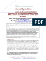 Environmental Impacts of Mining - Identifying various Aspects of Environmental Impact Assessment (EIA) and Environmental Management System (EMS) in order to Improve Environmental Standard of the surroundings