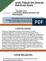1. Urgensi, Tujuan Dan Sasaran KKN (Warek I)