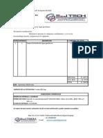 COT. N° E&JTECH 18 – 093 - CARACOL DE BOMBA DE AGUA GASOLINERA