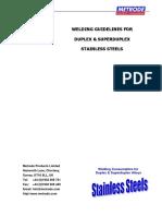 Duplex Welding Guidelines