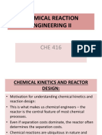 CHE 416 Reaction Kinetics