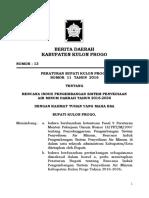 Perbup Kulon Progo No. 11 Tahun 2016 ttg Rencana Induk Pengembangan Sistem Penyediaan Air Minum Daerah tahun 2016-2036.pdf