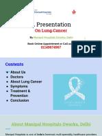 Manipal Hospitals Dwarka, Delhi- Lung Cancer