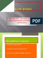 Hukum Bisnis 2013