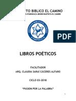 Libros Poeticos - Claudia Saraí Cáceres Alfaro- c03-2018