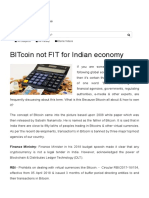 BITcoin Not FIT for Indian Economy