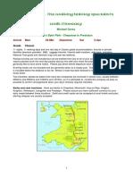 Offas Dyke walking itinerary 2014