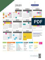 Asturias Calendario 2018-19 Apaisado