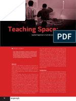Teaching Space, Spatial Cognition in Architectural Design Education by Ozaeta