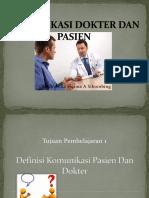 komunikasi pasien dan dokter