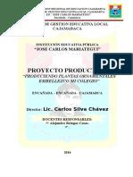 Proyecto Prductivo - Produccion de Plantas Ornamentales 2016