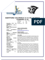 Hartford Colonials Game Notes Week 4