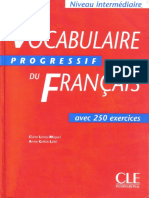 Vocabulaire Progressif Du Francais - Avec 250 Exercises