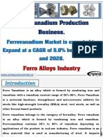 Ferro Vanadium Production Business