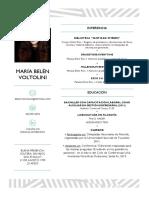 María Belén Voltolini - CV