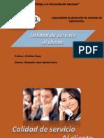 Calidad de Servicio Al Cliente