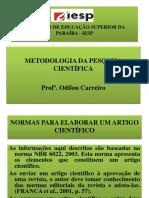 APRESENTAÇÃO - AULA DE METODOLOGIA.pptx