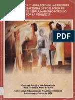 PARTICIPACIÓN Y LIDERAZGO DE LAS MUJERES EN ORGANIZACIONES? DE POBLACIÓN EN SITUACIÓN DE DESPLAZAMIENTO FORZADO POR LA VIOLENCIA ,