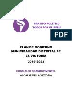 Plan de Gobierno Frepap La Victoria