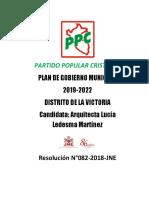 Plan de Gobierno Ppc La Victoria