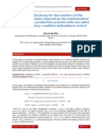 Exponential decay for the solution of the nonlinear equation induced by the mathematical model in mass production process with one sided spring boundary condition byfeedback control