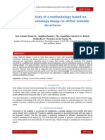 Usability study of a methodology based on concepts of ontology design to define website structures