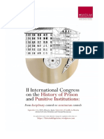 First Circular II International Congress on the History on Prison and Punitive Institutions