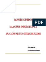 Balance de Energia Mecanica Flujo de Fluidos