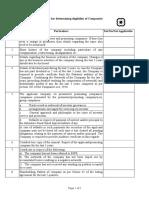Checklist Eligibility