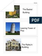 Flashcard Unique Buildings English KSSR