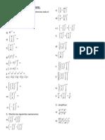 Teoria de Exponentes I - II