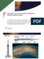 Test and Verification of Shefex2 Hybrid Navigation System Stephan Theil