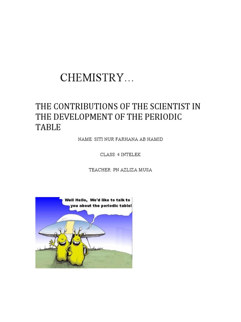Real Folio Periodic Table Chemical Elements