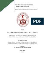 """""""Clasificación Analítica de La Silla - Nodo"""""""