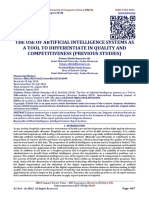 THE USE OF ARTIFICIAL INTELLIGENCE SYSTEMS AS A TOOL TO DIFFERENTIATE IN QUALITY AND COMPETITIVENESS (PREVIOUS STUDIES)