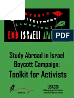 Study Abroad in Israel Boycott Campaign – Toolkit for Activists