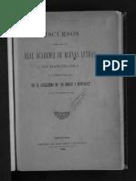 Discursos Leídos Ante La Real Academia de Buenas Letras en La Recepción de G. Brocá, 9 de Febrero de 1890