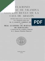 Relaciones de Arnau de Vilanova Con Los Reyes de La Casa de Aragón
