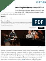 El festival de música que despierta los sentidos en México | Cultura | EL PAÍS