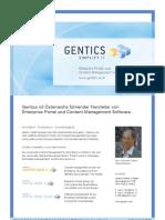 Gentics Firmenprofil (DE)
