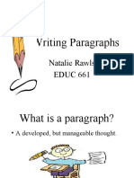 Writing Paragraphs - Spoken English Course Lucknow (CDI) / www.CDILUCKNOW.BLOGSPOT.COM