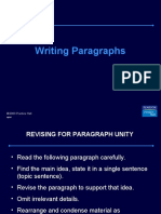 Writing Paragraphs - Spoken Englsih Course Lucknow / www.cdilucknow.blogspot.com