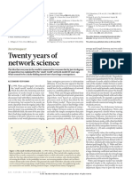 Twenty years of network science