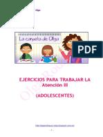 Ejercicios para Trabajar la Atención (Adolescentes)