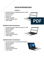 Catalogos de Notebooks 2018