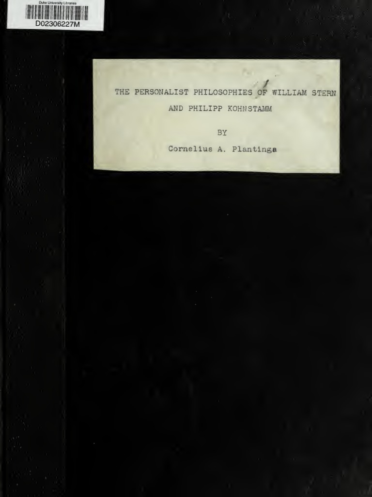 Stern  Konstantin - Personalna Filozofija   Metaphysics